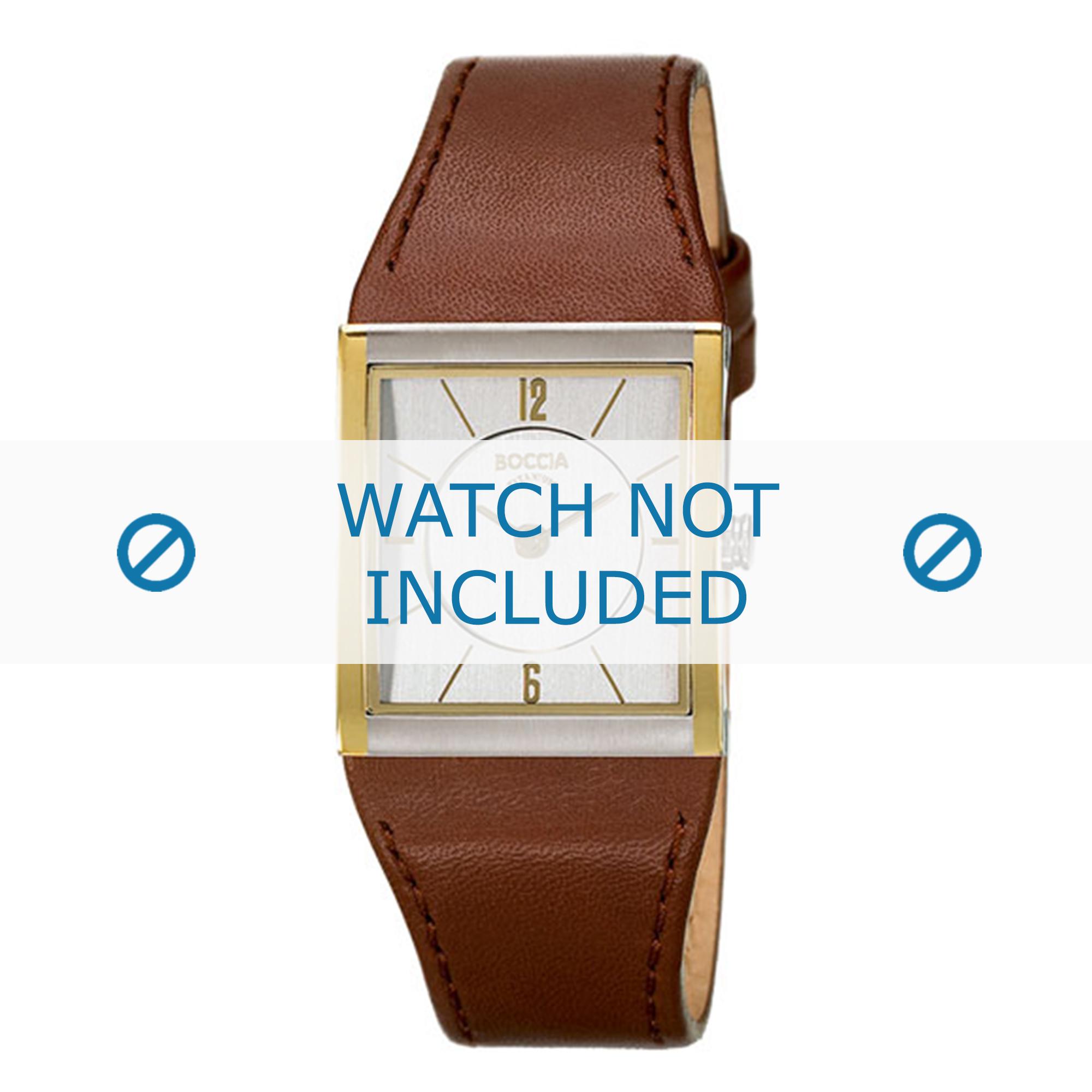 Boccia klockarmband 3148-02-BO3148-02-40 Läder Brun 22mm + sömmar brun