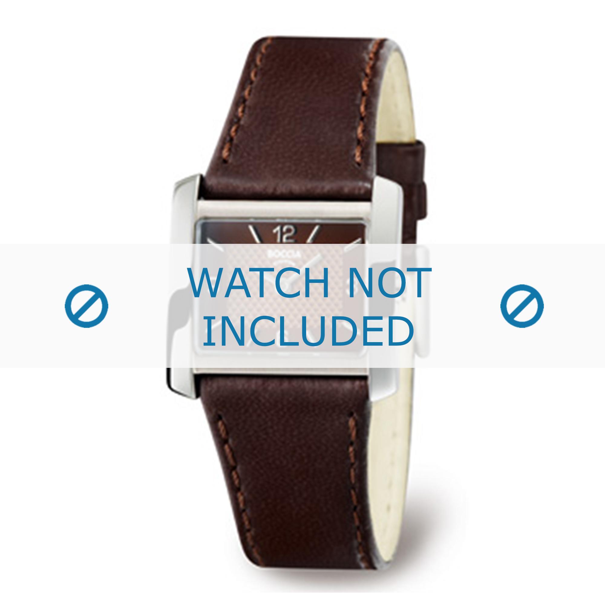 Boccia klockarmband 3155-02-BO3155-02-40 Läder Brun 22mm + sömmar brun