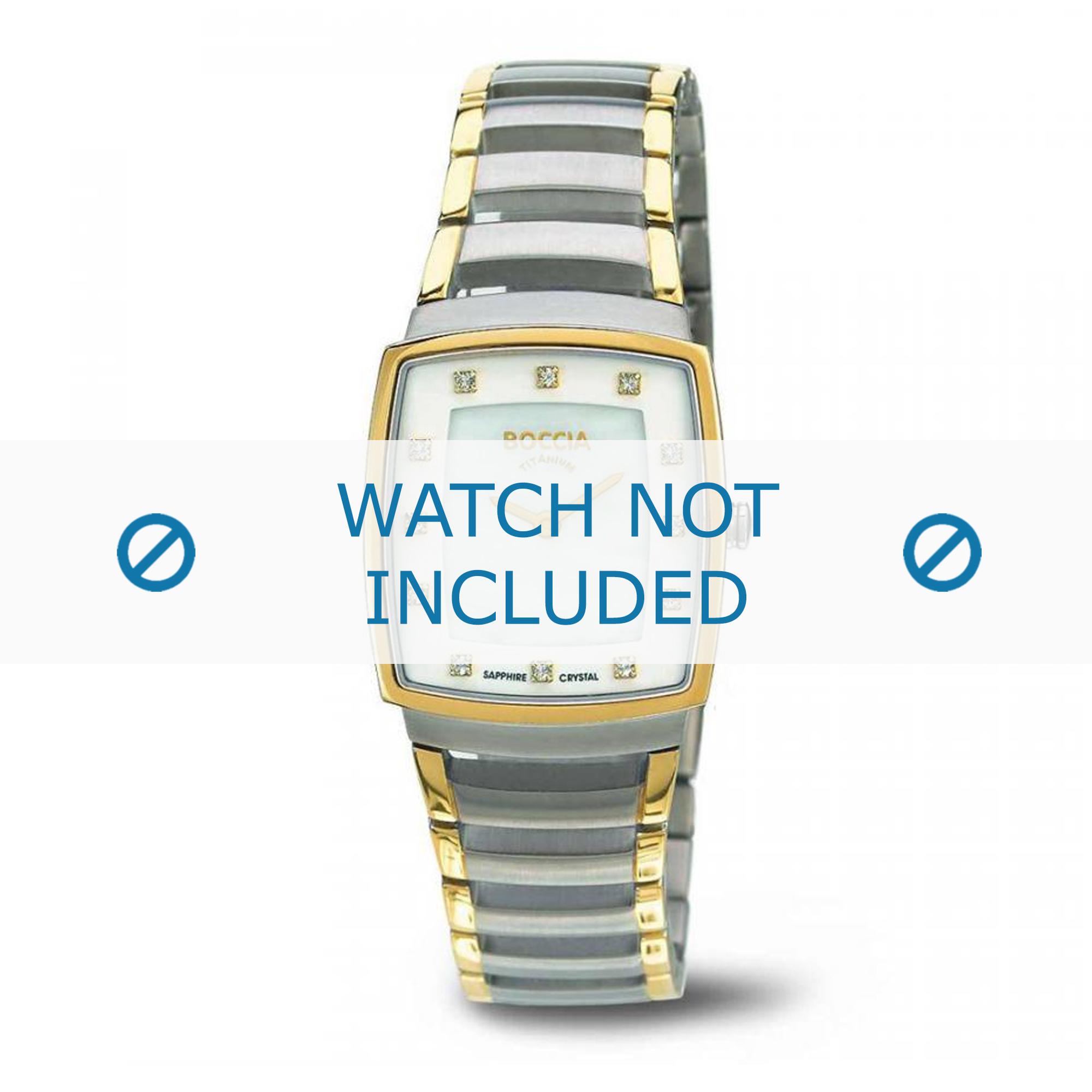 Boccia klockarmband 3241-02 Titan Bi-färg