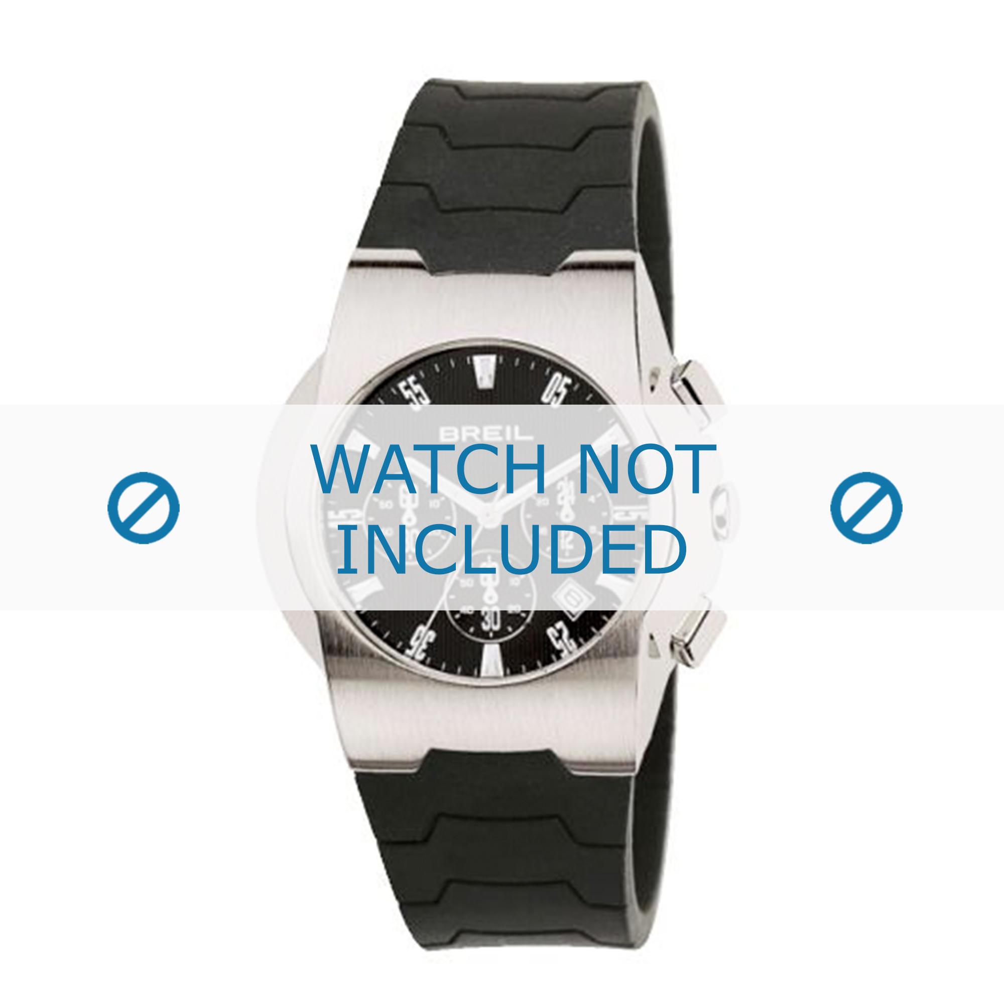 Breil klockarmband 2519773538 Gummi / plast Svart