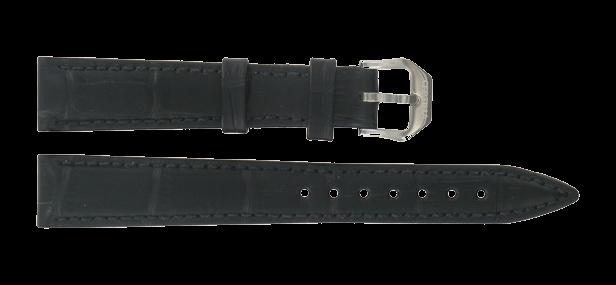 Certina klockarmband C600015904 Läder Svart 15mm + sömmar svart
