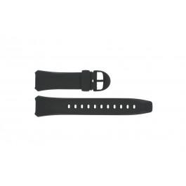 Klockarmband Casio WVA-104H / WVA-104HA-2AV Plast Svart 16mm