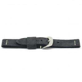 Klockarmband Läder svart 22mm EX-H127