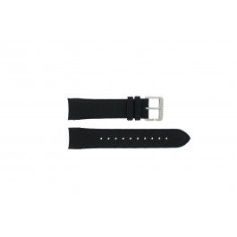 Hugo Boss klockarmband HB-232-1-27-2731 / HB1513087 Läder Svart 22mm + sömmar svart