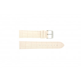Klockarmband Universell 285.15 Krokodil läder Rosa 22mm