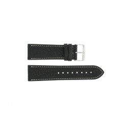 Klockarmband Universell 307.01 XL Läder Svart 18mm