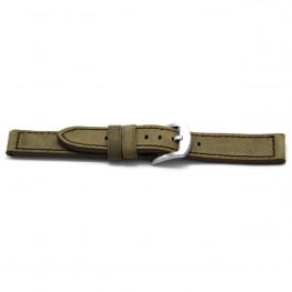 Klockarmband Universell F338 Läder Taupe 18mm