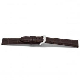Klockarmband Universell D348 Läder Brun 14mm