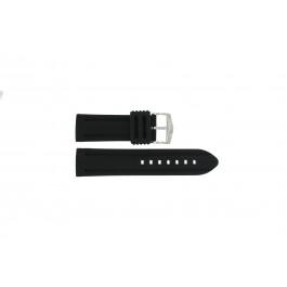 Klockarmband Universell 5809.01 Silikon Svart 26mm
