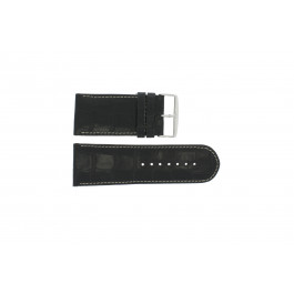 Klockarmband Universell 61324.24Z Läder Svart 24mm