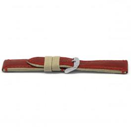 Klockarmband Läder rött 22mm EX-H728