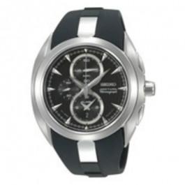 Klockarmband Seiko 7T62-0JA0 (02B) / SNAC21P1 / 4A581JT Silikon Svart 28mm