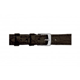 Morellato klockarmband Classico Cucito D2213052019DO08 / PMD019CLSCCU08 Krokodilskinn Svart 8mm + default sömmar
