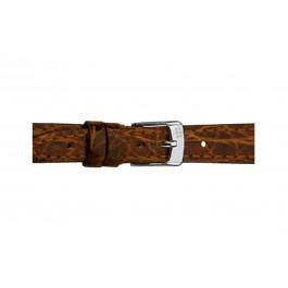 Morellato klockarmband Classico Cucito D2213052034DO08 / PMD034CLSCCU08 Krokodilskinn Mörk brun 8mm + default sömmar