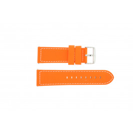 Klockarmband Davis B0262 Fluor Läder Rosa 24mm