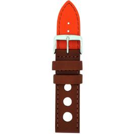 Klockarmband Davis B0322 Läder Brun 24mm