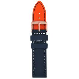 Klockarmband Davis B0335 Läder Blå 24mm