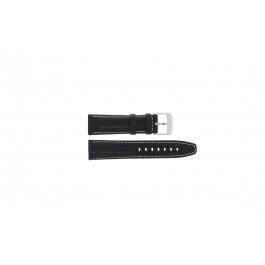 Klockarmband Camel BC50975 / 6522-6529 / 6580-6589 / 6600 Läder Svart 22mm
