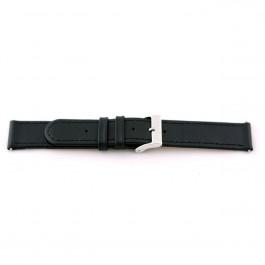Klockarmband Universell G100 Läder Svart 20mm