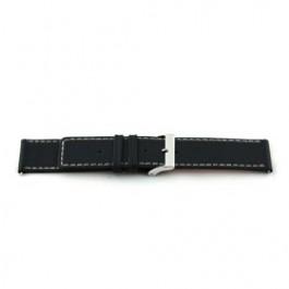 Klockarmband Universell M110 Läder Svart 32mm