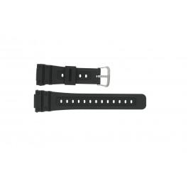 Casio klockarmband 10186132 Gummi Svart 16mm