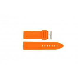 Klockarmband Universell DS253.12.24 Silikon Apelsin 24mm