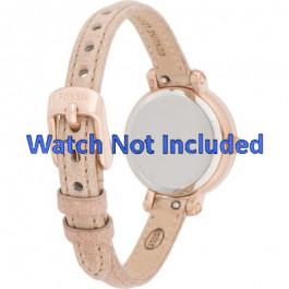 Klockarmband Fossil ES3139 Läder Beige 8mm