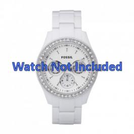 Klockarmband Fossil ES1967 Plast Vit 9mm