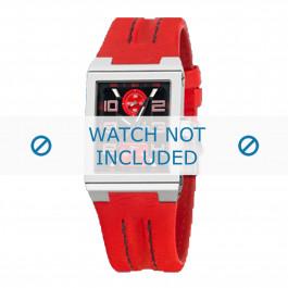 Festina klockarmband F16224-8 Läder Röd 14mm + sömmar svart