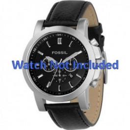 Klockarmband Fossil FS4247 Läder Svart 22mm