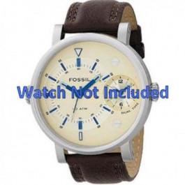 Klockarmband Fossil FS4338 Läder Brun 24mm