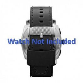 Klockarmband Fossil FS4731 Läder Svart 24mm