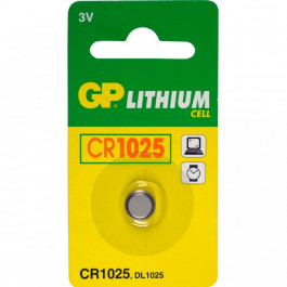GP Knappcell Batteri CR1025 - 3v