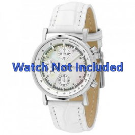DKNY klockarmband NY4528 Läder Vit 18mm + default sömmar
