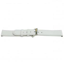 Klockarmband Universell H500 Läder Vit 22mm