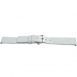 Klockarmband Universell H520 Läder Vit 22mm