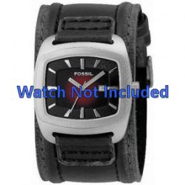 Klockarmband Fossil JR9498 Läder Svart 22mm