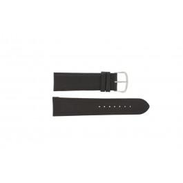 Klockarmband Universell E.5316 Läder Mörk brun 20mm