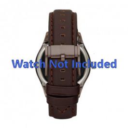 Klockarmband Fossil ME1123 Läder Mörk brun 22mm