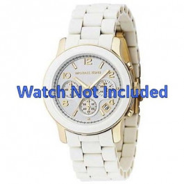 Klockarmband Michael Kors MK5145 Stål Vit 20mm
