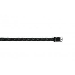 Klockarmband Universell PRLN.10.Z Nylon/perlon Svart 10mm