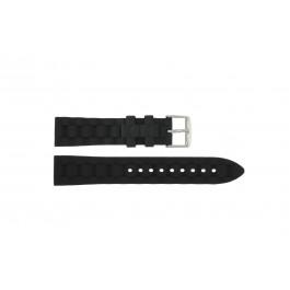 Klockarmband Universell PU106.01 Plast Svart 20mm
