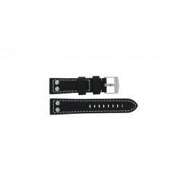 Klockarmband Universell 2844.01 Läder Svart 24mm