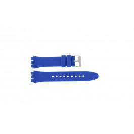 Klockarmband alternativ som är lämpligt för Swatch S07 Silikon Blå 19mm