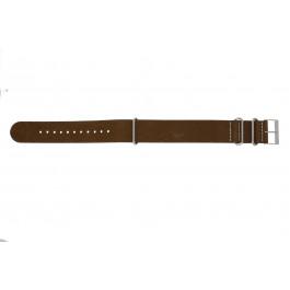 Klockarmband NATO UH14 Läder Brun 22mm