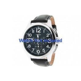 Klockarmband Guess W10562G3 Läder Svart 22mm
