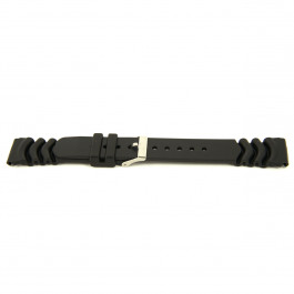 Klockarmband Universell XH11 Gummi Svart 22mm