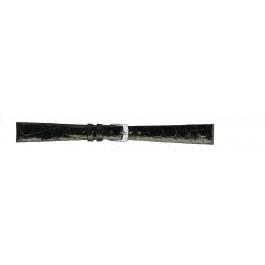 Morellato klockarmband Classico D2212052019CR08 / PMD019CLSCRO08 Krokodilskinn Svart 8mm