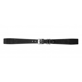 Morellato klockarmband Aperto Flat D2664403019CR08 / PMD019APERTP08 Läder Svart 8mm + default sömmar