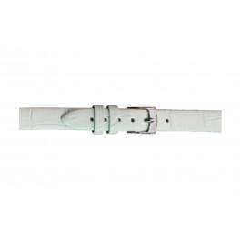 Morellato klockarmband Thin D2860656017CR08 / PMD017THINA08 Krokodil läder Vit 8mm